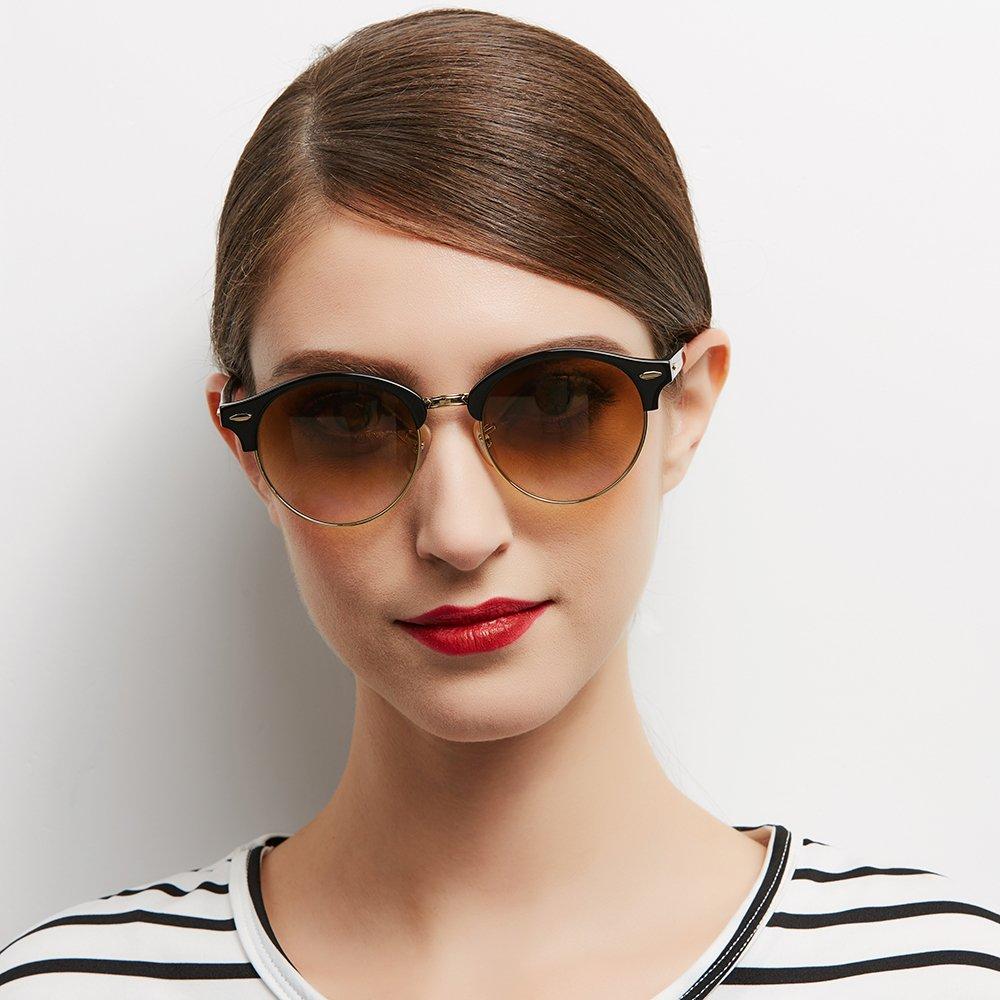 Amazon.com: CLUBROUND Unisex Ronda anteojos de sol Shades ...