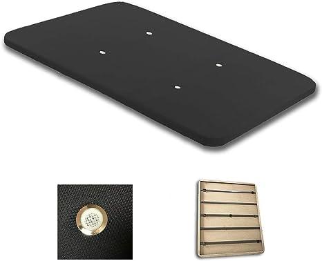 Duérmete Online Duérmete-Base Tapizada 3D Reforzada 5 Barras de Refuerzo y Válvulas de Ventilación Sin Patas, Color Negro, 150x190