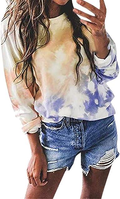 Tashioning Camisa De Lunares con Cuello En V Casual para Mujer Adolescentes Chicas Sudaderas Cortas Estampado Tops Blusas Camiseta: Amazon.es: Ropa y accesorios