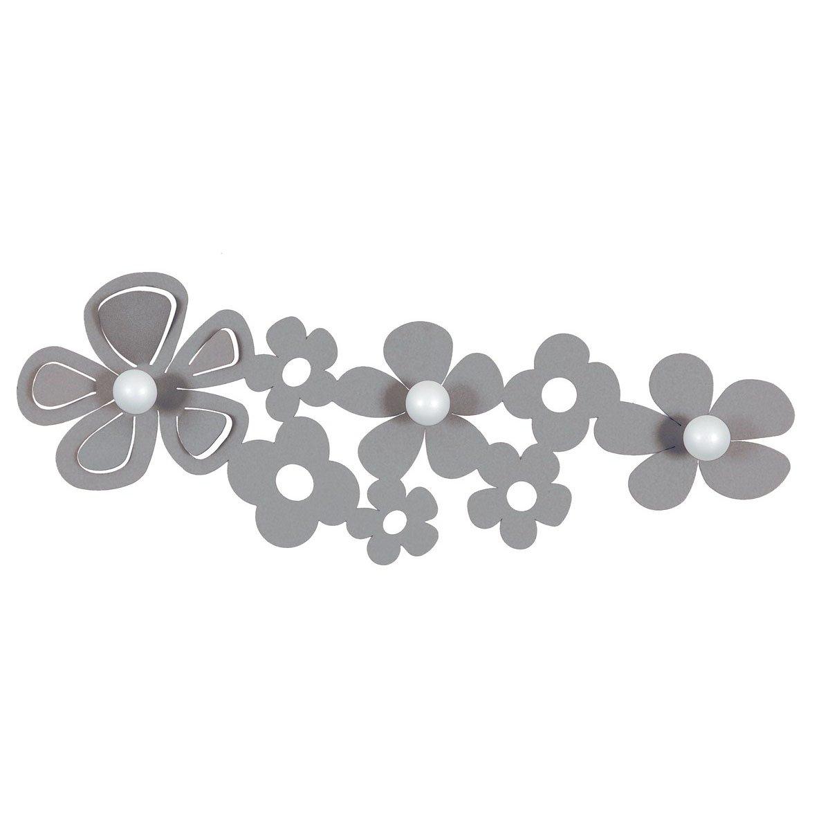 Alluminio 75 x 27 x 4 cm Grigio ARTI E MESTIERI AP0911C70 Appendiabiti da Parete