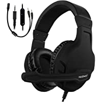 NUBWO U3 Xbox One PS4 Gaming Headset PC Mic, Laptop Computer Stereo Headphones with Microphone for Playstation 4 Xbox 1 Games Controller (Black)