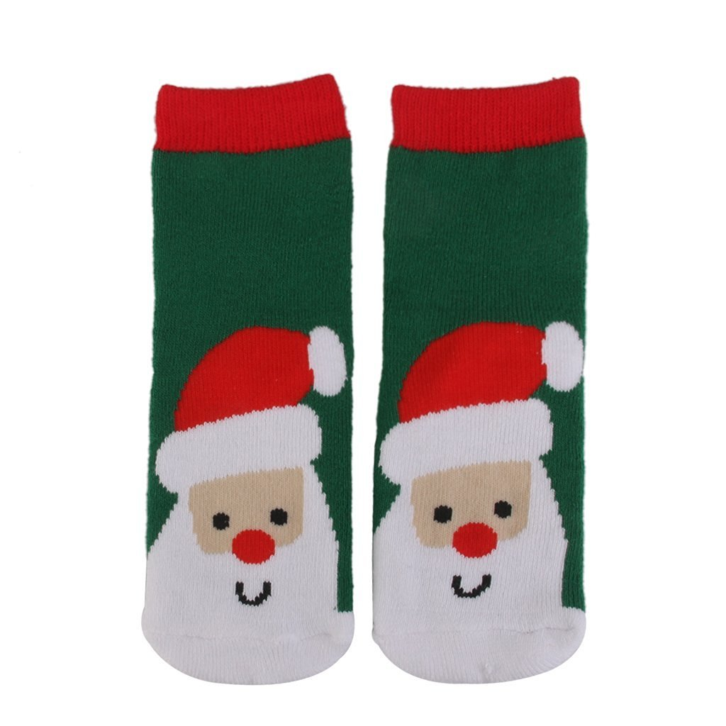 ruiio 1pares de lindo para bebé de Navidad Patrón de Navidad calcetines regalos Xmas Decor (S 1–3), 05