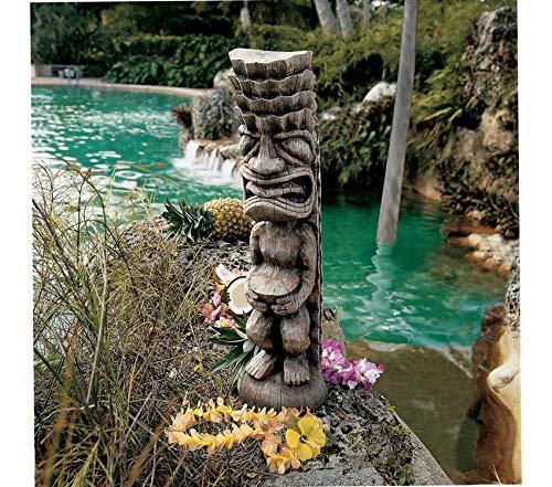 The God Premium Decorative Design of The Luau Tiki God Statue Garden Patio Décor Backyard Outdoor - Fishing Tiki Garden Decor