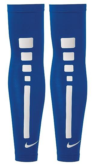 Nike Pair Of Arm Warmers Sleeves Pro Elite Sleeves Blue Royal White