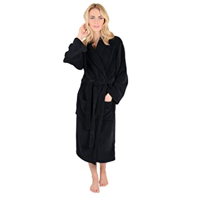 Ladies Coral Fleece Super Soft Thick Luxurious Bath Robe Dressing ...