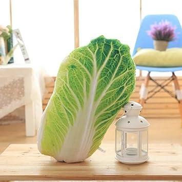 Amazon.com: fwq Creative Simulación vegetales almohada Col ...