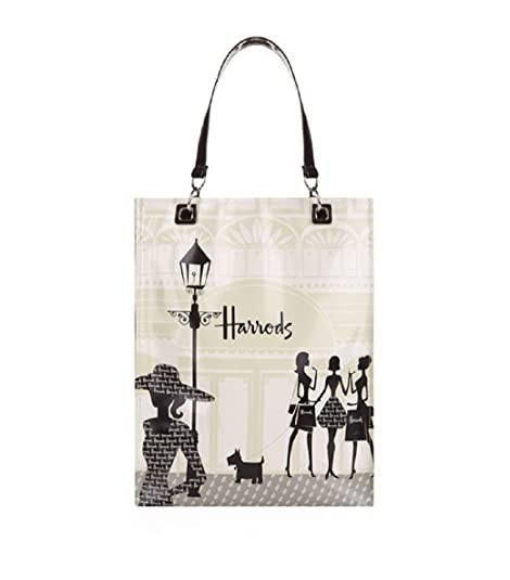 harrods Medium Knightsbridge Shopping Shopper Bag - Borsa a mano in PVC con  fodera in poliamide ab231ee21d4