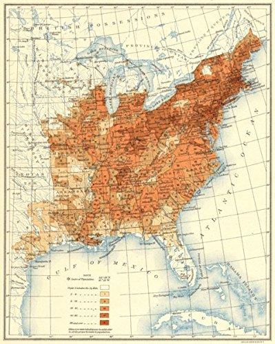 Amazoncom Usa Population Distribution East Of The 100th Meridian - 1850-us-map