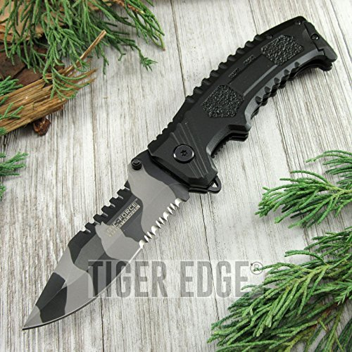 New SPRING-ASSIST FOLDING POCKET ProTactical Limited Edition Elite Knife Tac-Force Urban Camo Serrated Blade Combat
