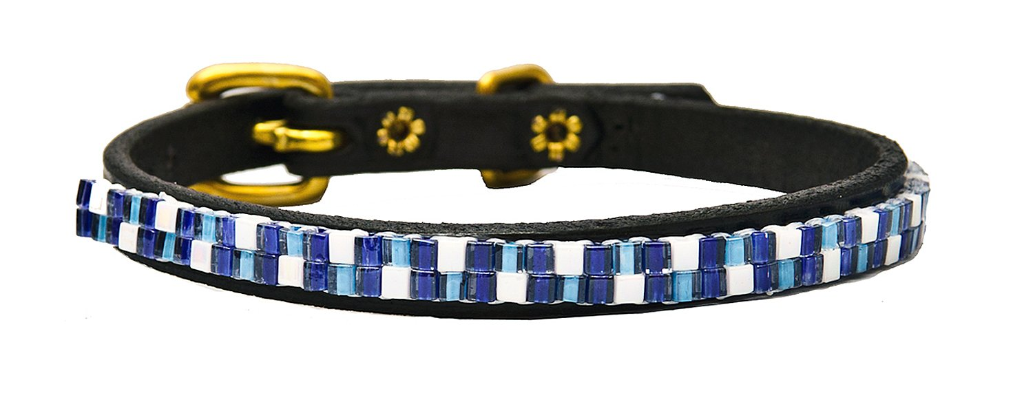 Just Fur Fun Dog Collar, Counting Clouds, 20-Inch, Black Leather