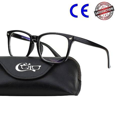 CGID CT82 Gafas con Cuernos Grandes para Protección contra Luz Azul, Consigues Dormir Mejor,