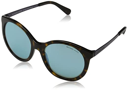 b661fb6da3b9 Amazon.com: Michael Kors Women's Island Tropics Dark Tortoise/Teal Mirror  One Size: Clothing
