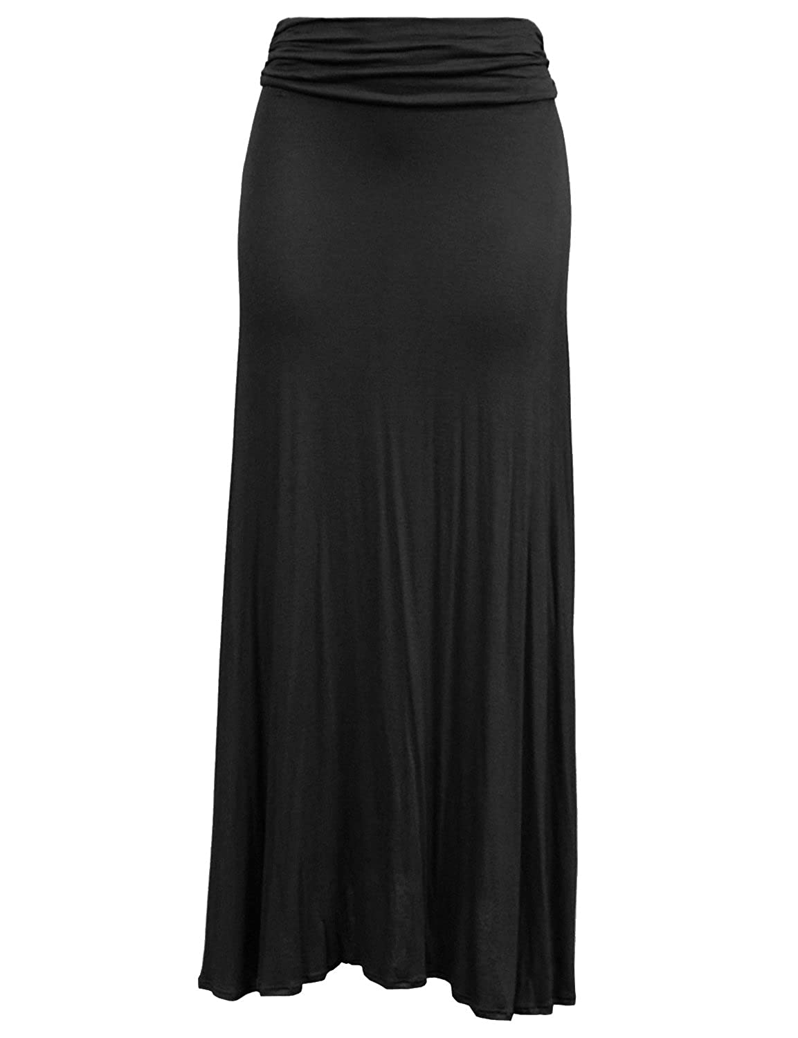 BEKDO Womens Plus Size Lightweight Floor Length Maxi Skirt with Stretch