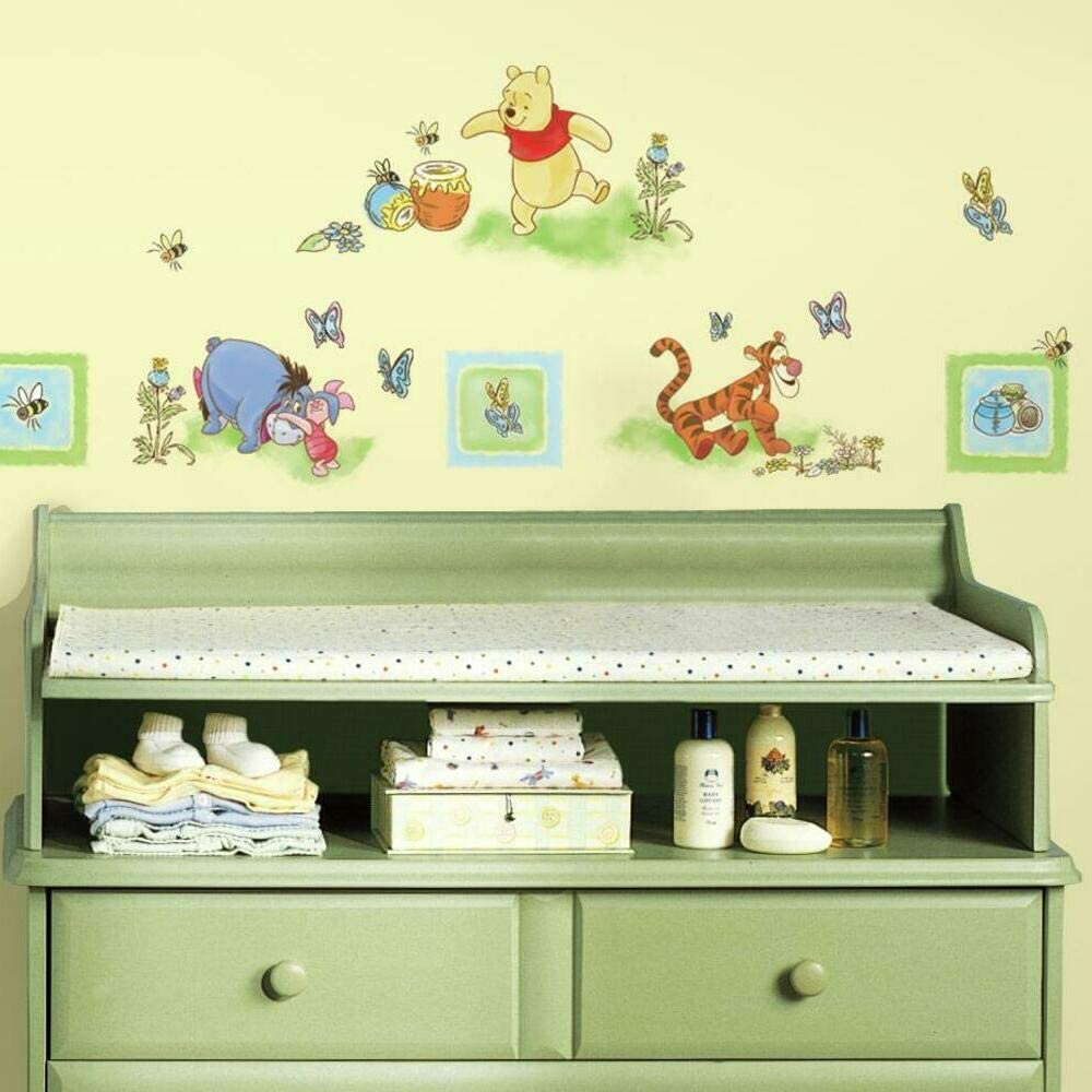 RoomMates Winnie The Pooh Peel and Stick Wall Decals,Multicolor