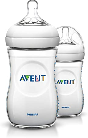 Philips Avent SCF693/27 - Pack de 2 biberones, tetina suave y flexible, anticólicos, PP 0% BPA, 260 ml, color transparente: Amazon.es: Salud y cuidado personal
