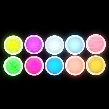 Amazon Anself 10pcs Uv Gel Nail Polish Nail Tip Art Glitter