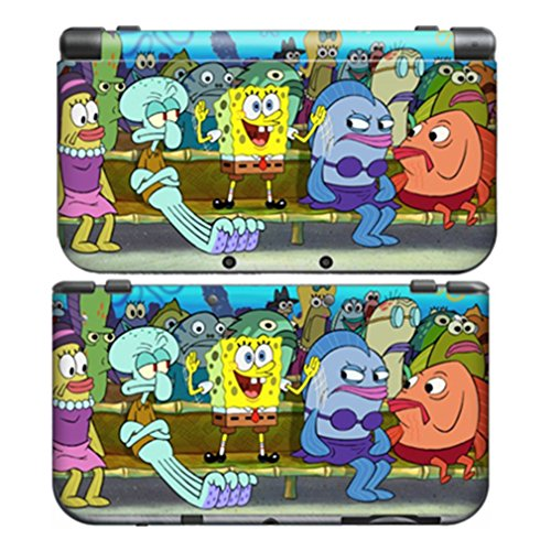 SPONGEBOB for New Nintendo 3DS Skin New3DS N3DS Decal Sticker Vinyl Cover + Screen Protectors (Difference Between Ultra Sun And Ultra Moon)
