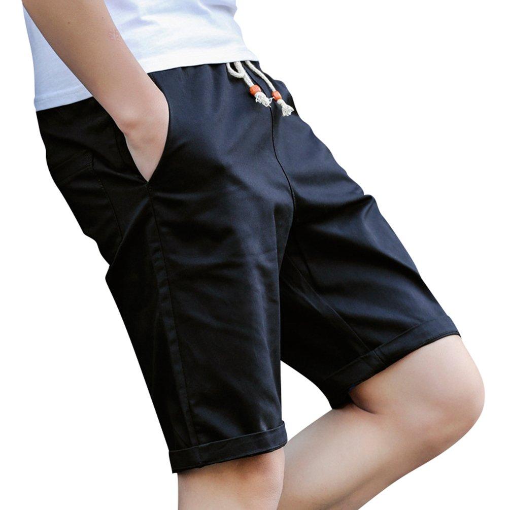 SunWanyi Uomo Pantaloncini con Tasche Estate Bermuda in Cotone Shorts Elastica Pantaloncini Sportivi