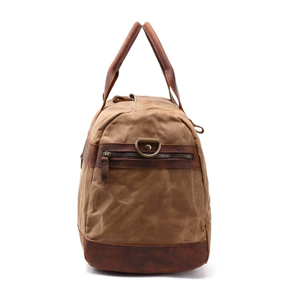 Zhuhaitf Retro Weekender Bags Waterproof Canvas Travel Shoulder Luggage Handbag