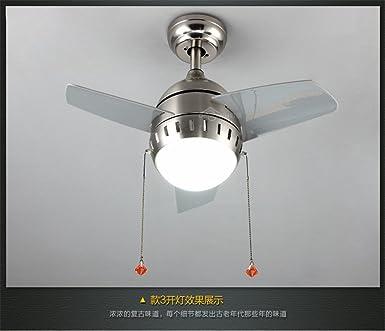 ShengYe Lámpara colgante de techo estilo rústico Ventilador de ...