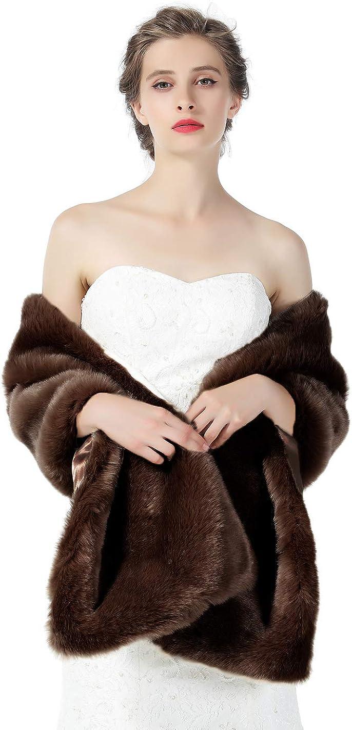 Faux Fur Shawl Wrap Wedding...