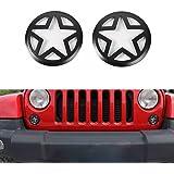 Opar 2007-2017 Jeep Wrangler Front Turn Signal Light Cover for JK & Wrangler Unlimited - Pair (Five Star )
