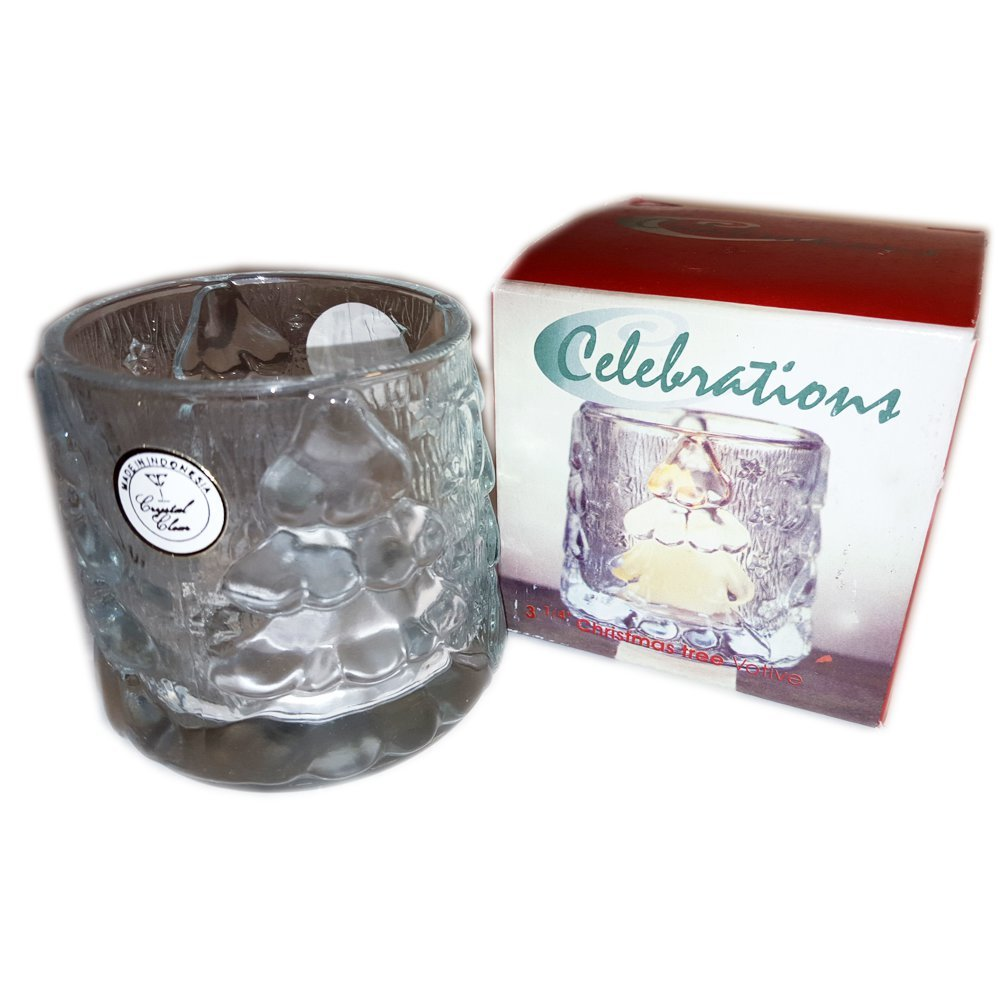Crystal Clear Celebrations Christmas Votive Candle Holder 3 1/4'' No. 315411