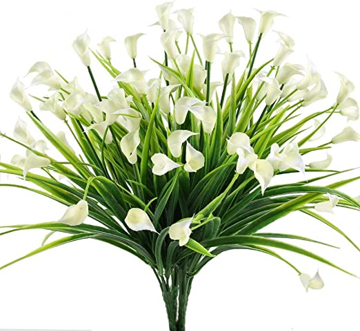 Amazon Com 4pcs Artificial Calla Lily Fake Faux Plants Uv