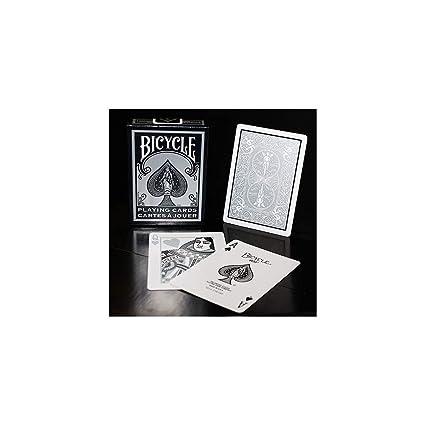 Amazon.com: Bicicleta Negro/Plata y Blanco Juego De Cartas ...