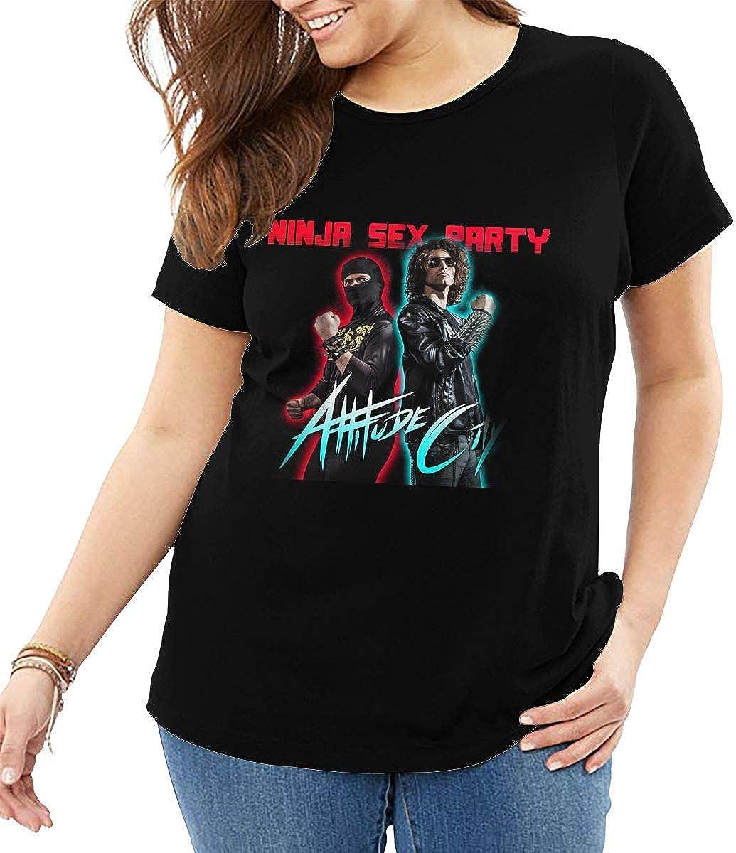 Ninja Sex Party Women's Oversize Shirt Short Sleeve T-Shirt Plus Size Tee