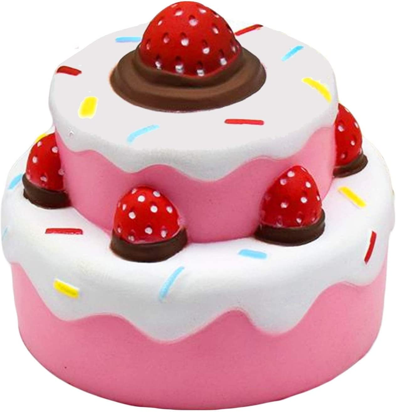 BCHENG Jumbo squishies Super Soft Squishy Toys Slow Rising Strawberry Cake Anti Stress Fidget - Stress Reliever Squeeze - Soft and Cute Squishies Toy - Squishy Kawaii - for Kids and Adults