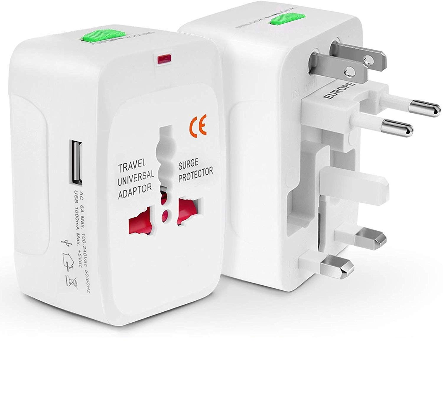 LOHAYA Worldwide Universal Travel Adapter with All in One Universal Wall AC  Power Plug with Dual USB Charging Ports with Protected Electrical Plug for  Cell Phone Laptop Camera Speakers Tablets : Amazon.in: