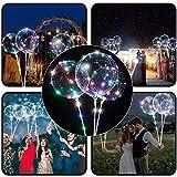 Psunrise Decoración Reusable Luminous Led Balloon Transparent Round Bubble Decoration Party Wedding Decoration