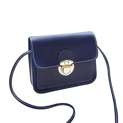 83b4f5a8c781f Btruely Schultertasche Damen Handtasche Geldbörse Groß Umhängetasche Tasche  Leder Geldbörse Handytasche Wallet (Blau)