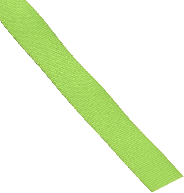 Creative Ideas 50-Yard Solid Grosgrain Ribbon, 5/8-Inch, Apple Green