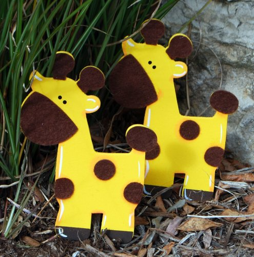 Felted Giraffe Quilt Clips - Set/2