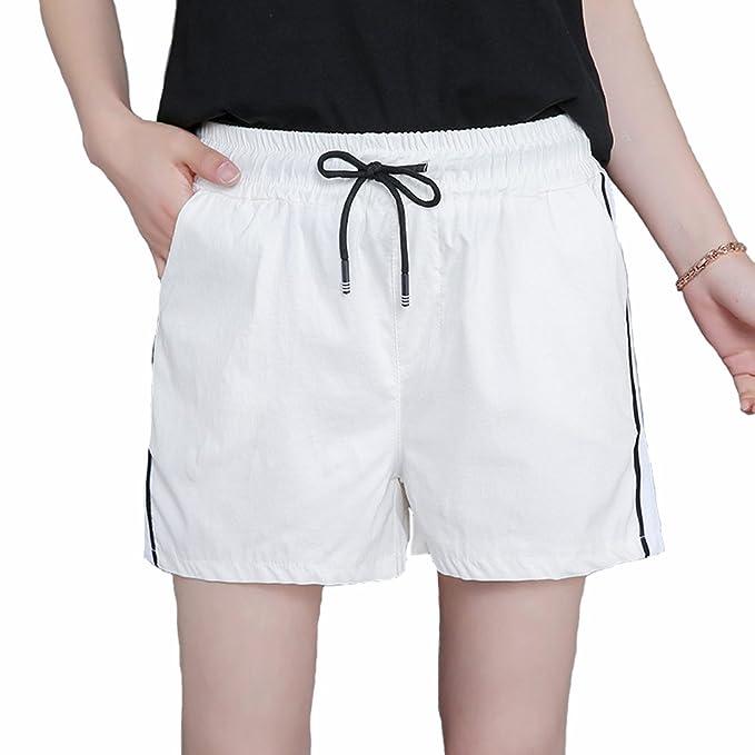 d0420e418 Moda Mujer Verano Señora Casual Pantalones Cortos Beach High Waist ...