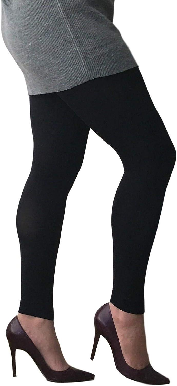 1 Coppia 80DEN EL817 Essexee Legs Donna Taglie Forti Opache senza Piede Collant