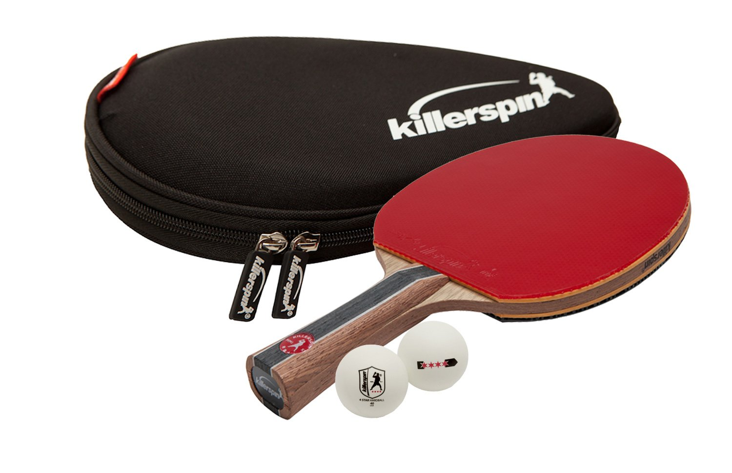 Killerspin Jet 800 Combo: Great Performing Paddle, Hard Racket Case and Three 4-Star Balls by Killerspin