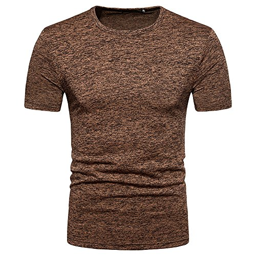ICE Cream Men's Summer Casual Solid Round Neck Pullover T-Shirt Top Blouse Tall Short-Sleeve Beefy T-Shirt