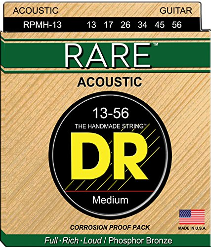 DR Strings Rare - Phosphor Bronze AcousticHex Core (New Bronze Core)