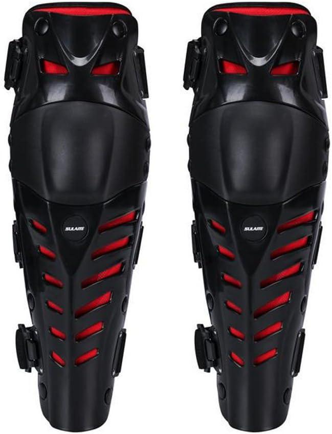 Rodilleras (38 x 10 cm, ajustables, cómodas para todo tipo de terreno, carreras, bicicletas, motocross y monopatín, 1 par)
