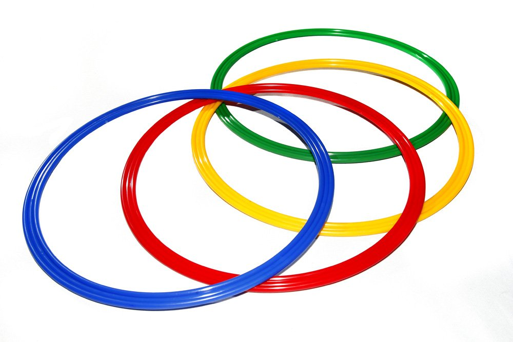 gr/ün Boje Sport Ring//Reifen /Ø ca 40 cm Farbe