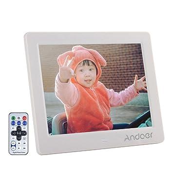 """Andoer 8"""" HD 1024*768 LCD Marcos Digitales MP3 MP4 con Control Remoto para"""
