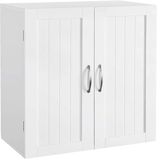 Amazon Com Topeakmart Home Kitchen Bathroom Laundry 2 Door 1 Wall Mount Cabinet White 23in X 23in Kitchen Dining