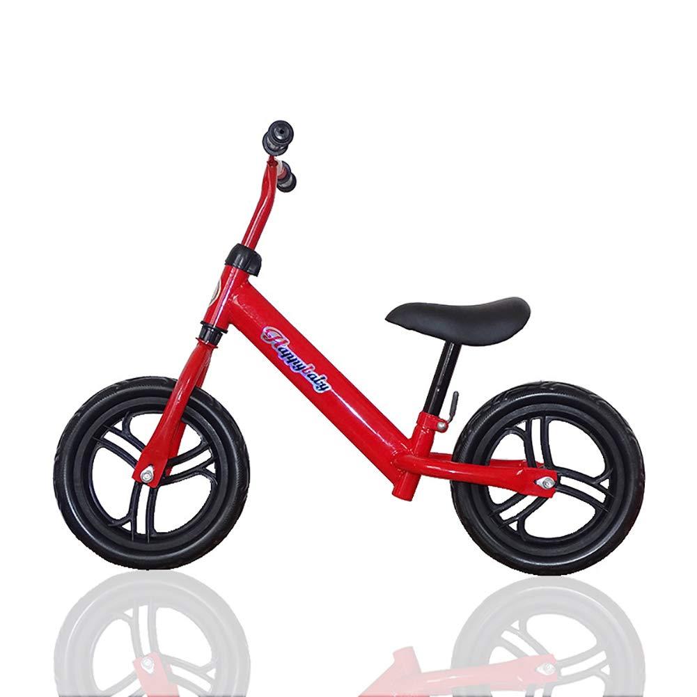 Huiivzxc Laufrad Leichtgewicht Kids First Running Laufrad Luftreifen 12 Zoll Sport Edition rot