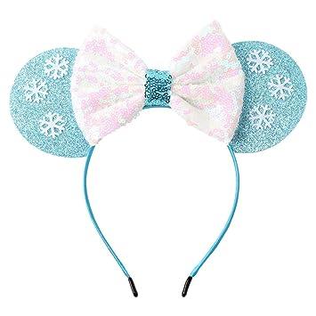 Amazon Com Minnie Mouse Ears Headband Snowflake Festival