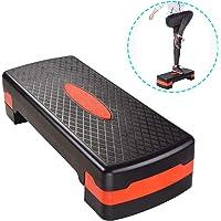 ReaseJoy Fitness Aerobic Stepper Adjustable Cardio Step Block Board Gym Yoga Exercise Training 2 Level 68x28 CM