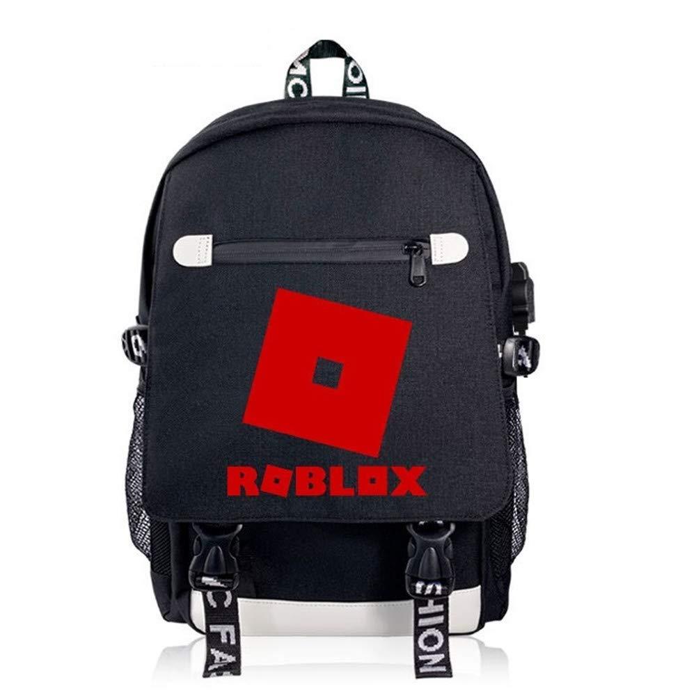 MOANKE Mochila Roblox con Puerto USB De Impresión para Hombres Y Mujeres Bolsa De Computadora Bolsa De Viaje Mochila Informal, 2