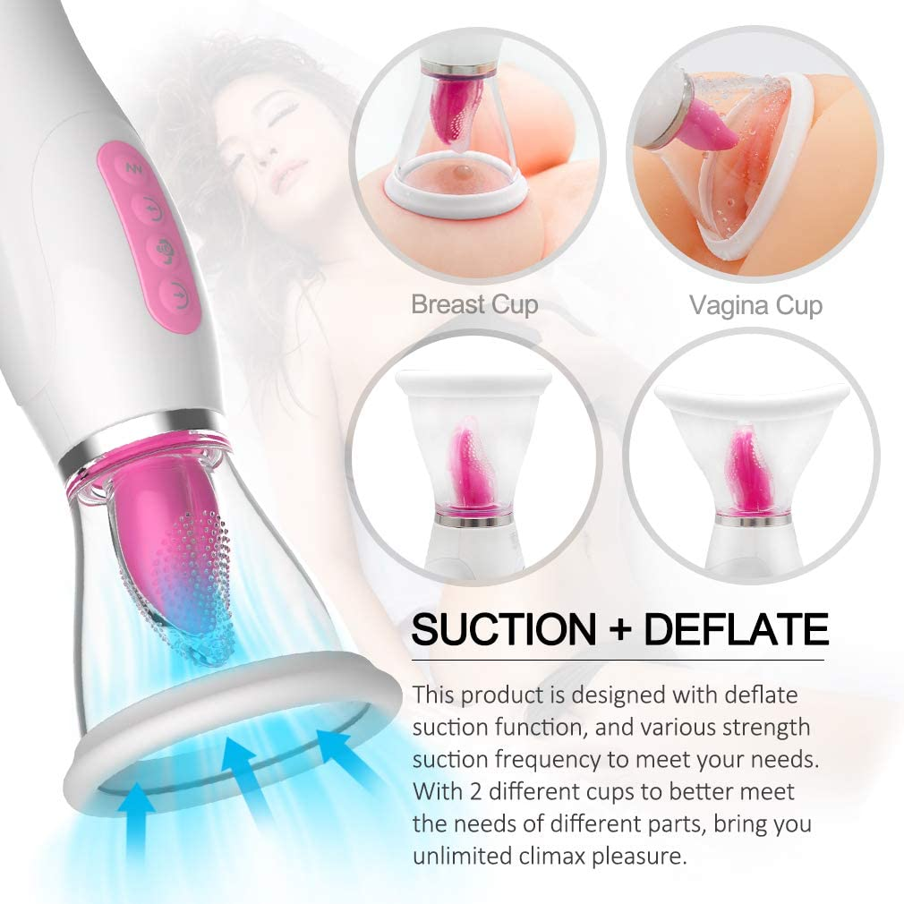 Pleasant Stimulator Sucking Cup Adult Six Toy for Women Nipple Sucker Massage Sexy Toy Remote Control 20 Speed Vibration Mode Breast Pump